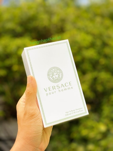 Tắm gội nam Versace Pour Homme Hair & Body Shampoo (250ml) - MADE IN ITALY.