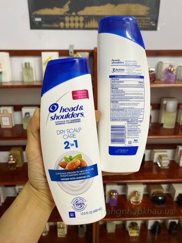 Dầu Gội Head & Shoulders Dry Scalp Care 2in1 400ml - MADE IN USA.