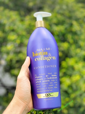Dầu Xả Biotin & Collagen (750ml) - MADE IN USA.