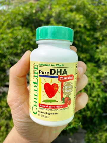 Vitamin ChildLife Pure DHA - Viên Uống Bổ Sung DHA - MADE IN USA.