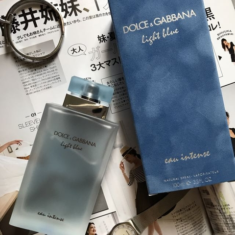 Dolce & Gabbana Light Blue Eau Intense EDP 100ml - MADE IN FRANCE.