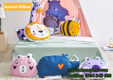 Bộ chăn ga gối Everon Animal Pillow