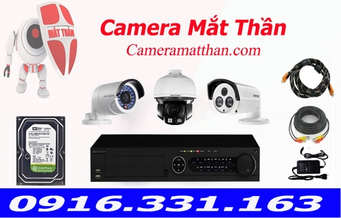 bộ 3 camera hikvision
