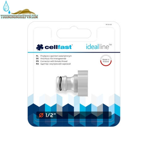 Cút nối ren trong ideal line cellfast 1/2'' (21mm)