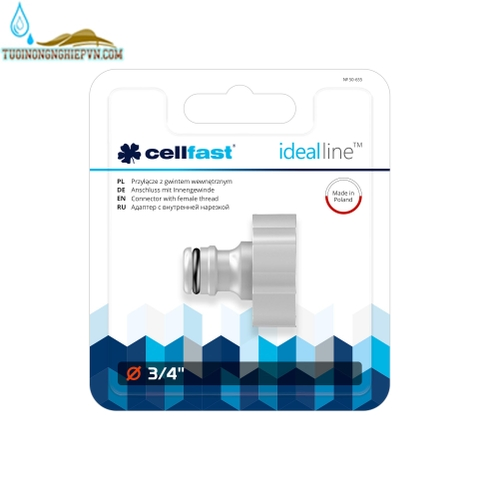 Cút nối ren trong ideal line cellfast 3/4'' (27mm)