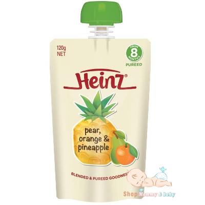 Trái cây nghiền Heinz 8m Pear, Orange and Pineapple 120g