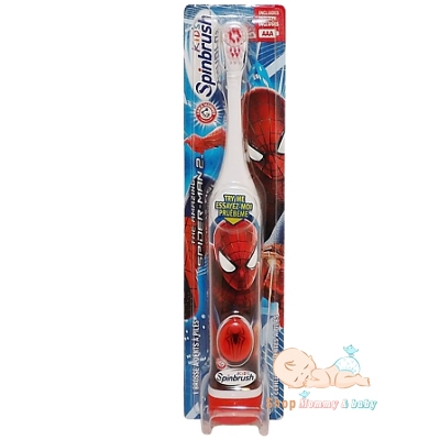 Bàn chải spinbrush kid spider man