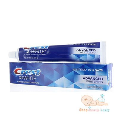 Kem đánh răng Crest 3D White Advanced Whitening 170g