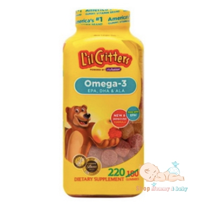 Kẹo dẻo bổ sung Omega 3 DHA L'il Critters Gummy - Mỹ