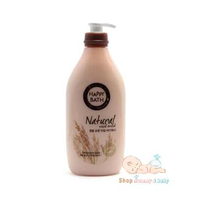 Sữa tắm happy bath natural real mild