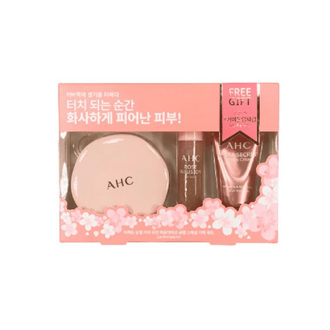 Set 3 Món Trang Điểm AHC Perfect Dual Cover Cushion Foundation Glam Special Gift
