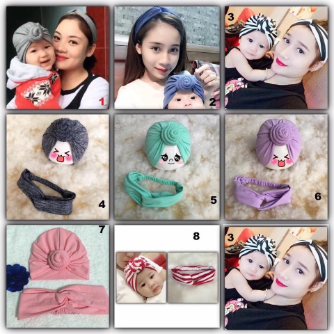 Set turban mẹ con