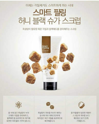 Tẩy Tế Bào Chết The Face Shop Smart Peeling Honey Black Sugar Scrub
