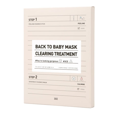 MẶT NẠ 3CE BACK TO BABY MASK #  CLEARING TREATMENT