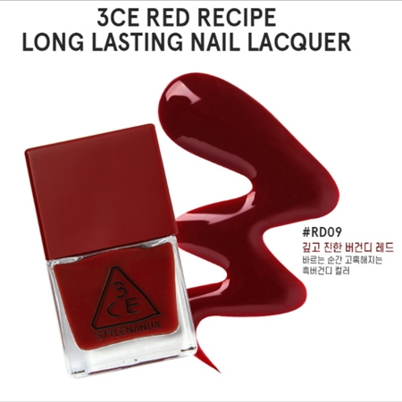 SƠN MÓNG TAY 3CE RED RECIPE LONG LASTING NAIL