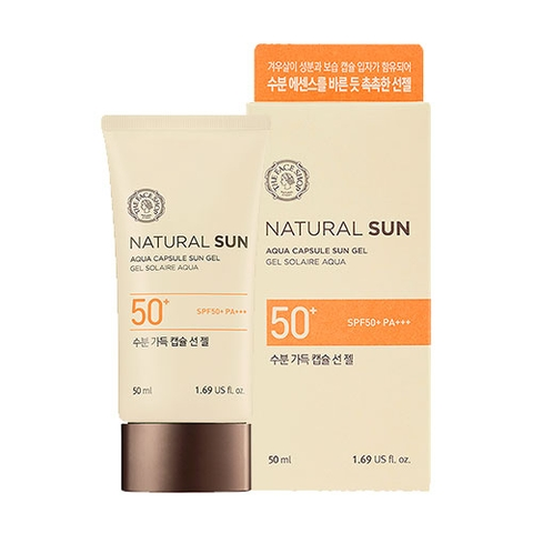 Kem chống nắng The Face Shop Natural Sun Aqua Capsule Sun Gel SPF50+PA+++