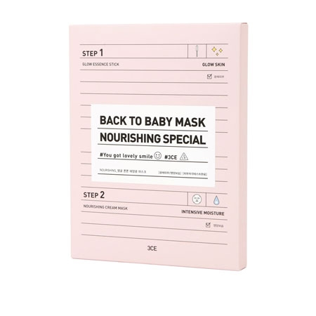 MẶT NẠ 3CE BACK TO BABY MASK # NOURISHING SPECIAL