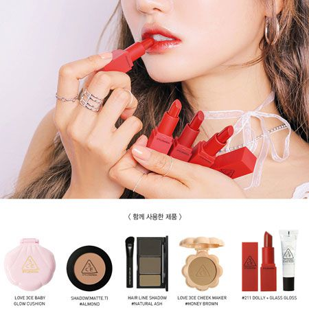 BỘ SON MÔI 3CE RED RECIPE LIP COLOR MINI KIT