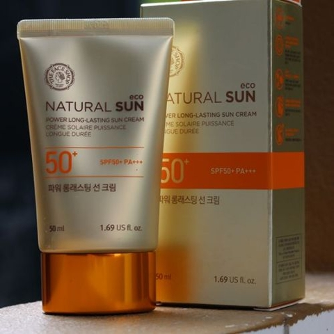 Kem Chống Nắng The Face Shop natural sun power long lasting sun cream SPF50+PA+++NEW
