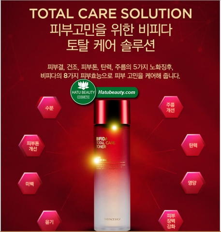 Nước hoa hồng The Face Shop Bifida Total Care Toner