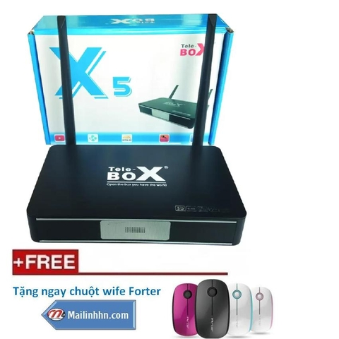 Smart android tivi box TeleBOX X5 4 râu