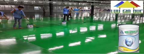 Sơn phủ sàn epoxy Apbollo ( Hệ Lăn)