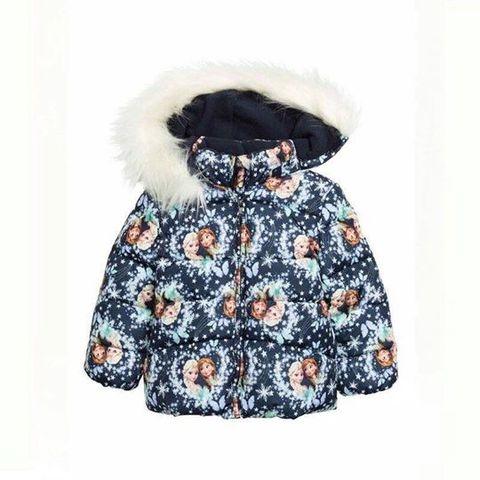 Áo khoác thương hiệu HM có mũ lông ấm áp, xinh xắn