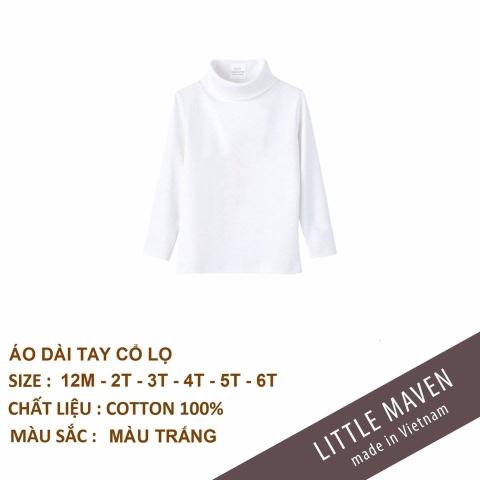 Áo cổ cao mềm mại, giữ ấm cơ thể, sản phẩm của hãngLittle Maven