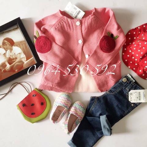 Áo len màu hồng cam ngọt ngào cho bé