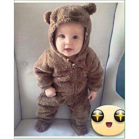 Body có mũ tai gấu dễ thương
