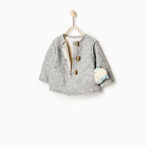 Áo khoác dạ Zara xuất dư lót lông cừu ấm áp