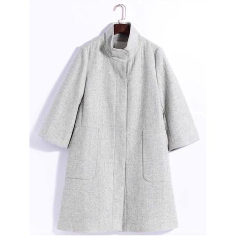 Chất dạ của áo khoác đanh mịn, hàng xuất Hàn