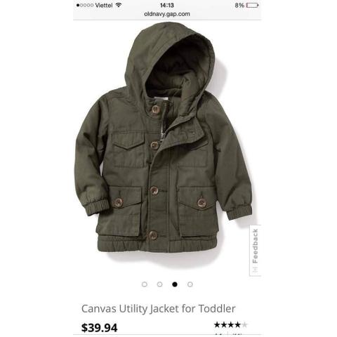 Chất liệu áo khoác là kaki và lót bông dày ấm
