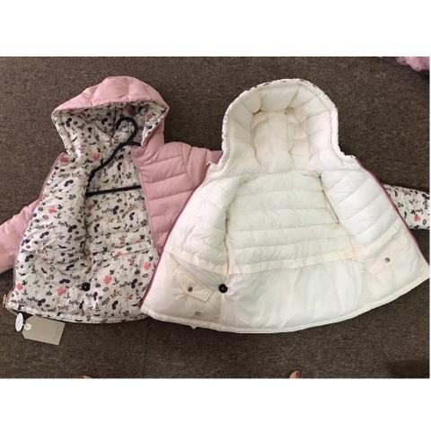 Bên trong áo khoác lót bông dày dặn cực ấm