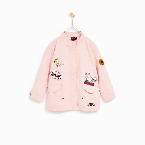 Áo khoác bé gái Zara cá tính cho bé