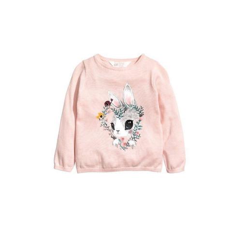 Áo len màu hồng ngọt ngào thương hiệu HM