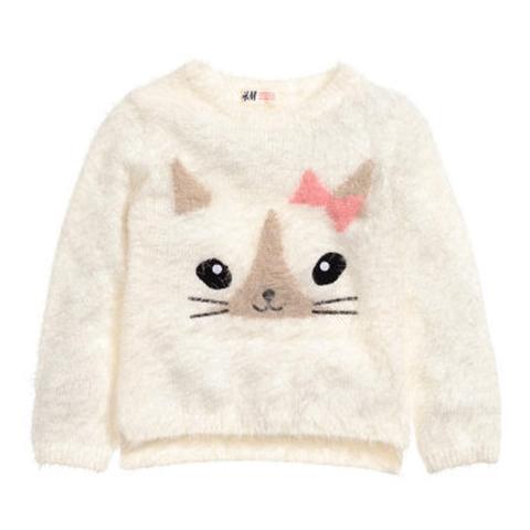 Áo len lông HM hình mèo cực xinh xắn