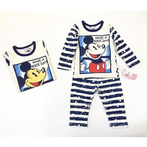 Bộ đồ có họa tiết Minnie cho bé gái, Mickey cho bé trai
