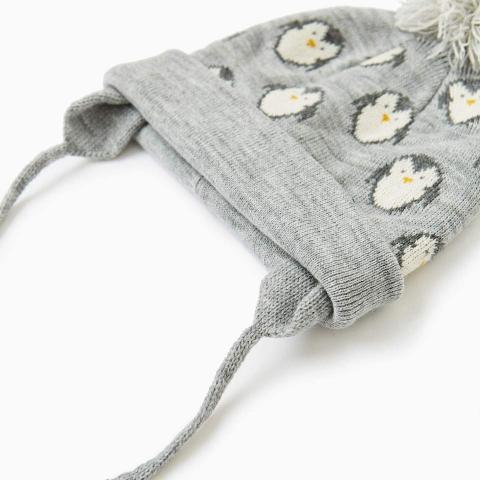 Mũ len có tai hai bên giữ ấm tối đa cho bé