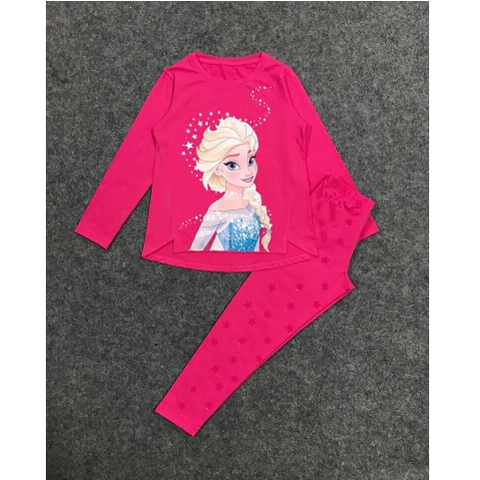 Hình in công chúa Elsa trên bộ đồ cao cấp