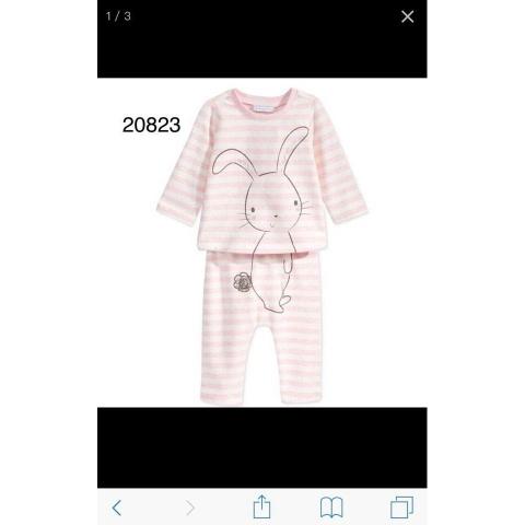 Bộ đồ thỏ hồng dễ thương cho bé