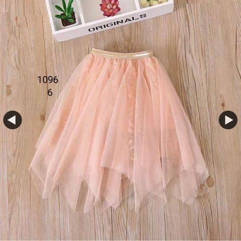 Chân váy xếp li xẻ tà dành cho bé