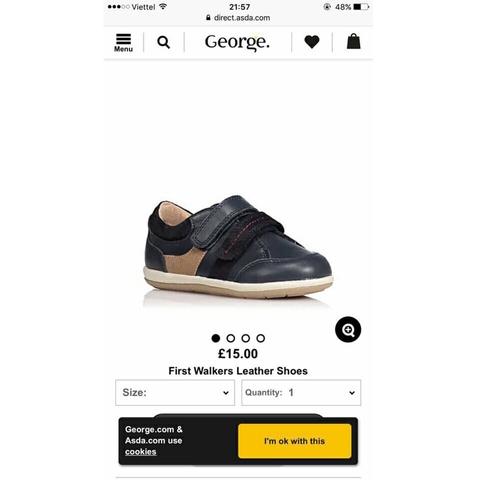 Giày xuất xịn thương hiệu George