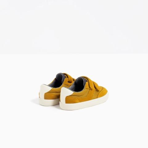 Chất liệu giày thể thao dày dặn, giữ ấm cho bé
