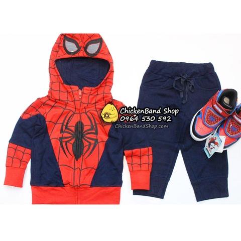 Bộ đồ người nhện có 3 màu cho mẹ và bé lựa chọn