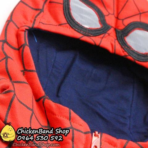 Áo khoác có mũ người nhện cực ngầu