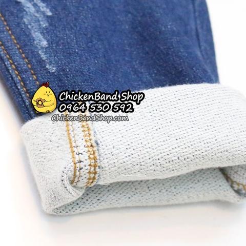 Chất liệu jean da cá cực mềm, quần mặc được cả 4 mùa