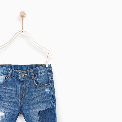 Quần jean bên trong có tăng đơ chun điều chỉnh