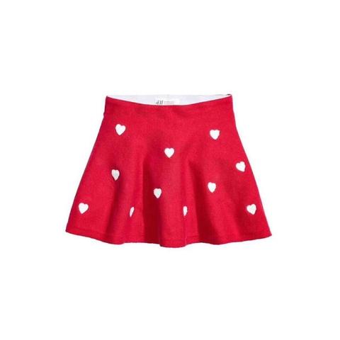 Chân váy len dáng xòe cho bé diện Giáng Sinh