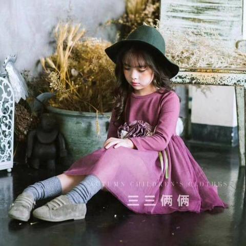 Váy đầm màu tím lạ dành cho bé